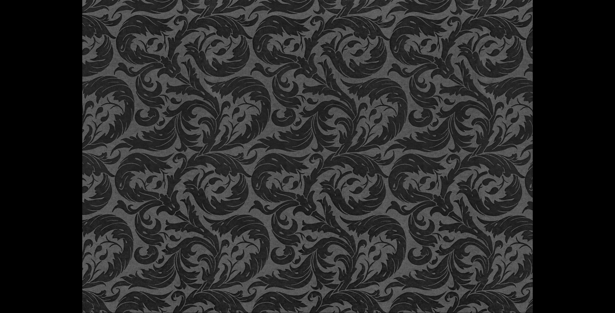 Acanthus Leaf Pattern. Journal pastedown endpapers and gift wrap.  1994. Pen and ink. Produced for Mudlark Papers, Chicago, IL.