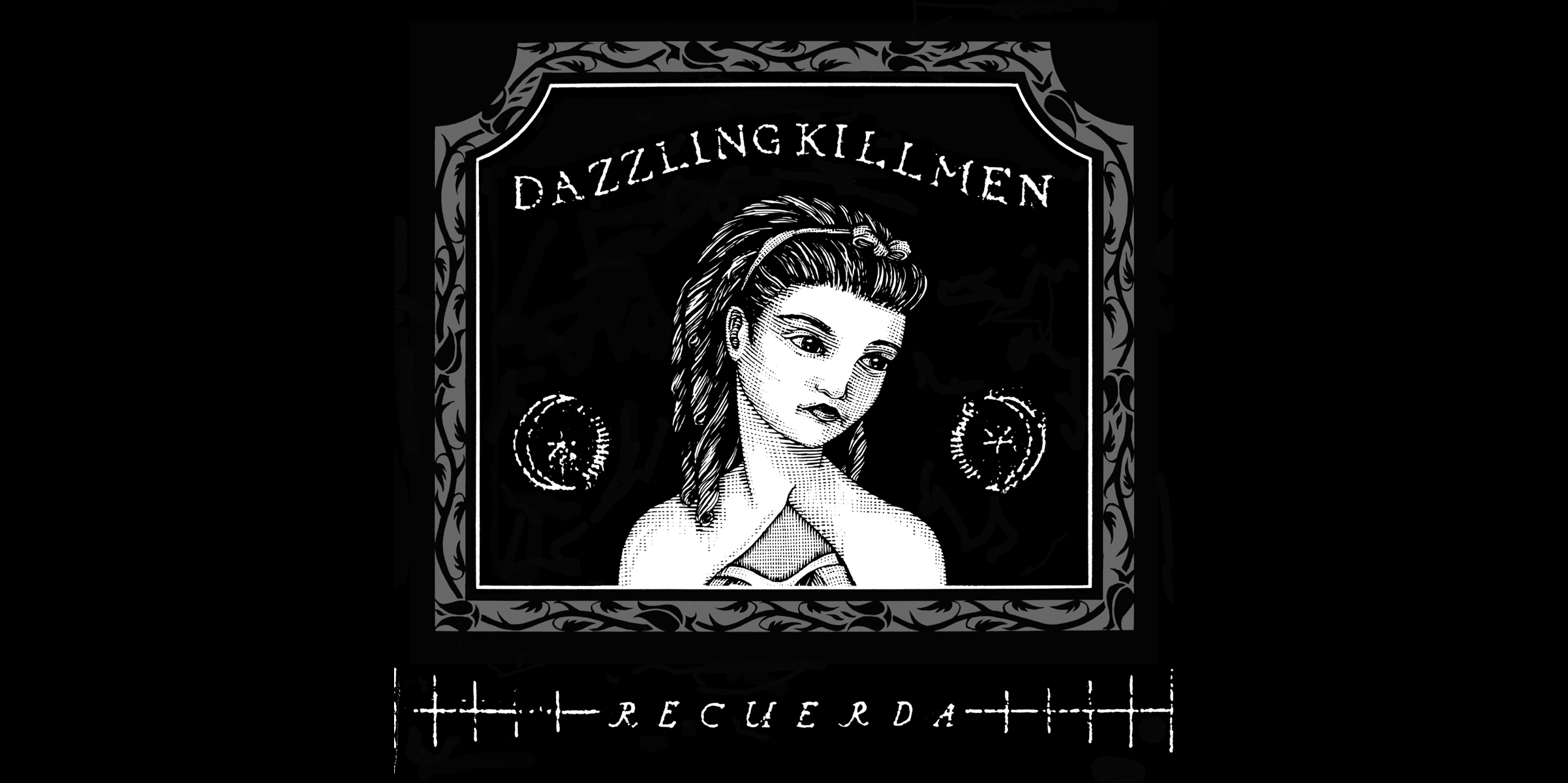 Dazzling Killmen,  Recurada . CD Booklet Cover.  1996. Pen and ink, Scratch board. Released by Skin Graft Records.
