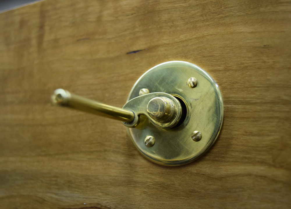 The Four Humors, Brass Crank Detail.
