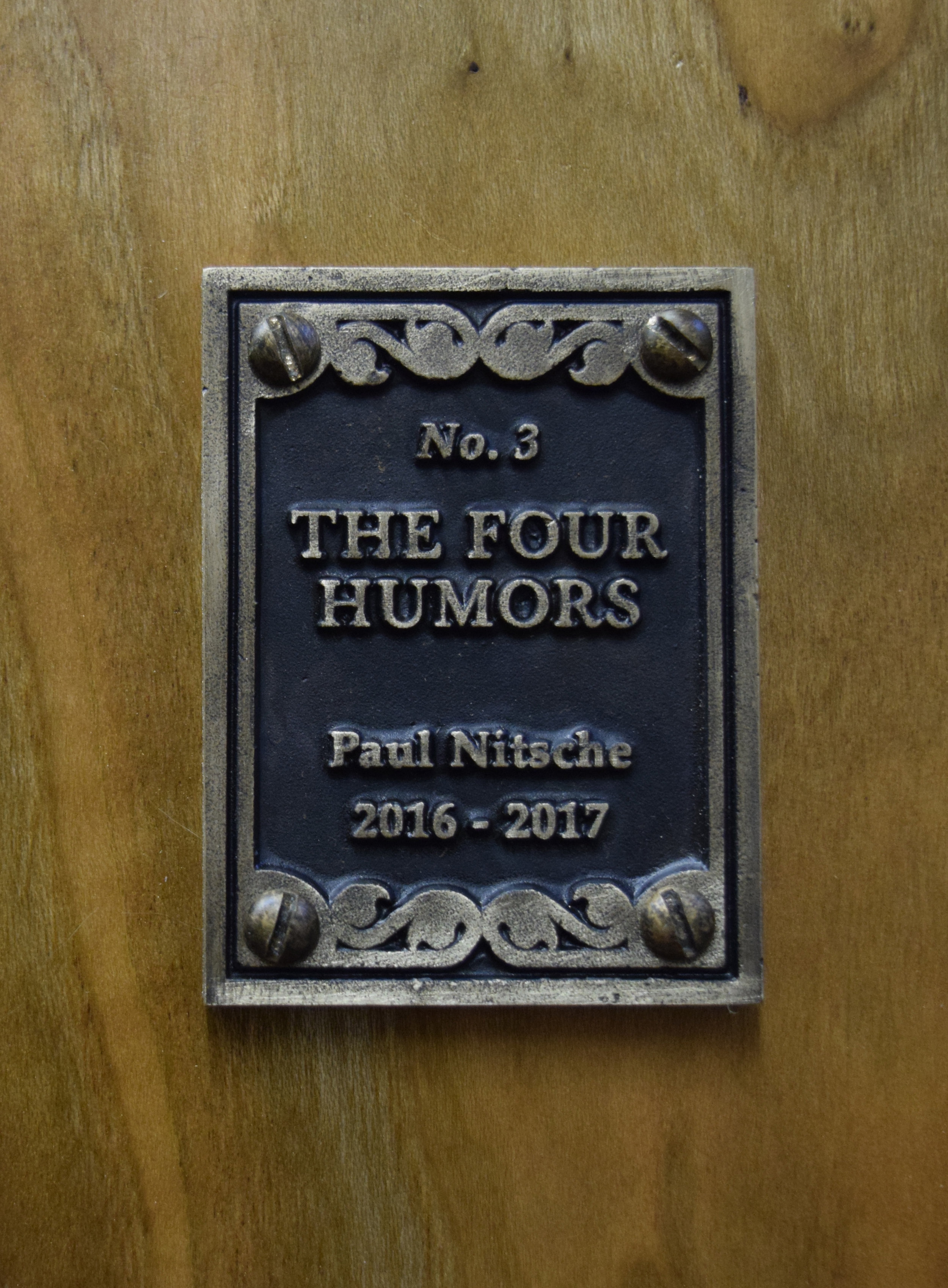 The Four Humors, Bronze Plate Detail.