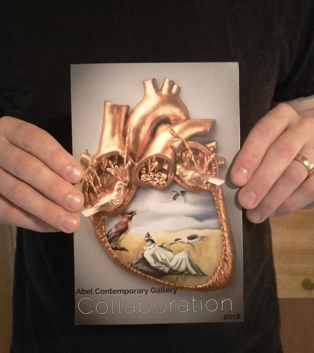 The cover of the Collaboration show catalogue from Abel Contemporary.