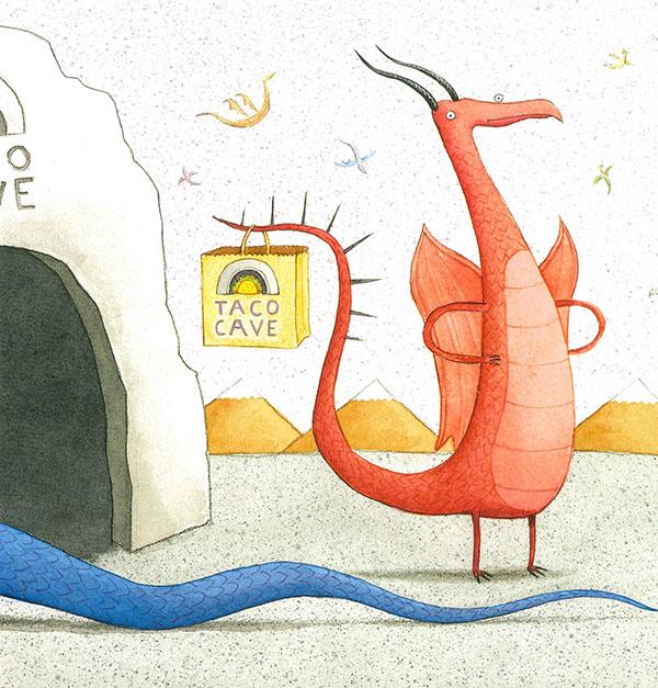 Dragons Love Tacos (2020) . Illustration by Daniel Salmieri.