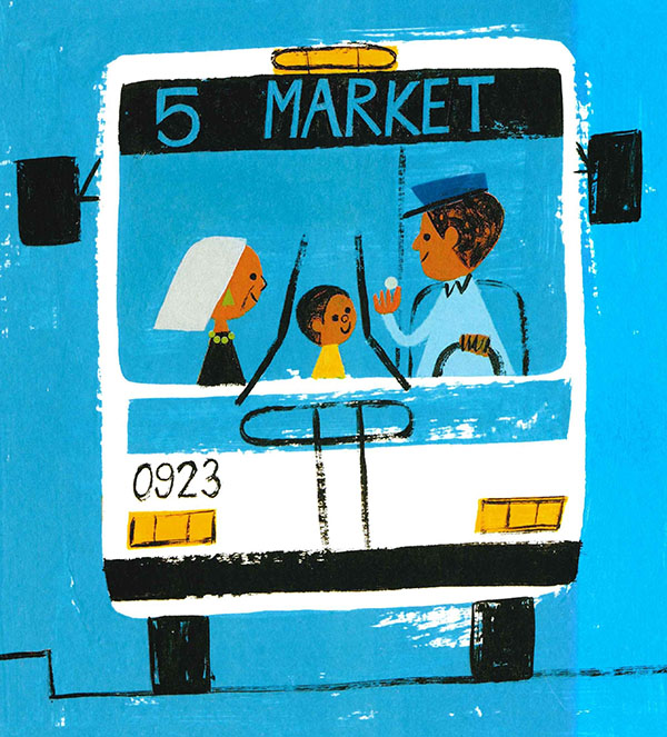 Last Stop on Market Street (2020) . Illustration by Christian Robinson.