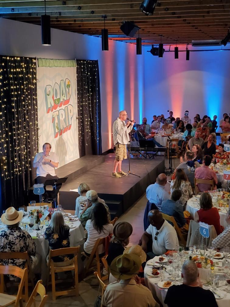 """Stan Foote makes his final """"curtain speech"""" at OCT's annual gala, August 24, 2019."""