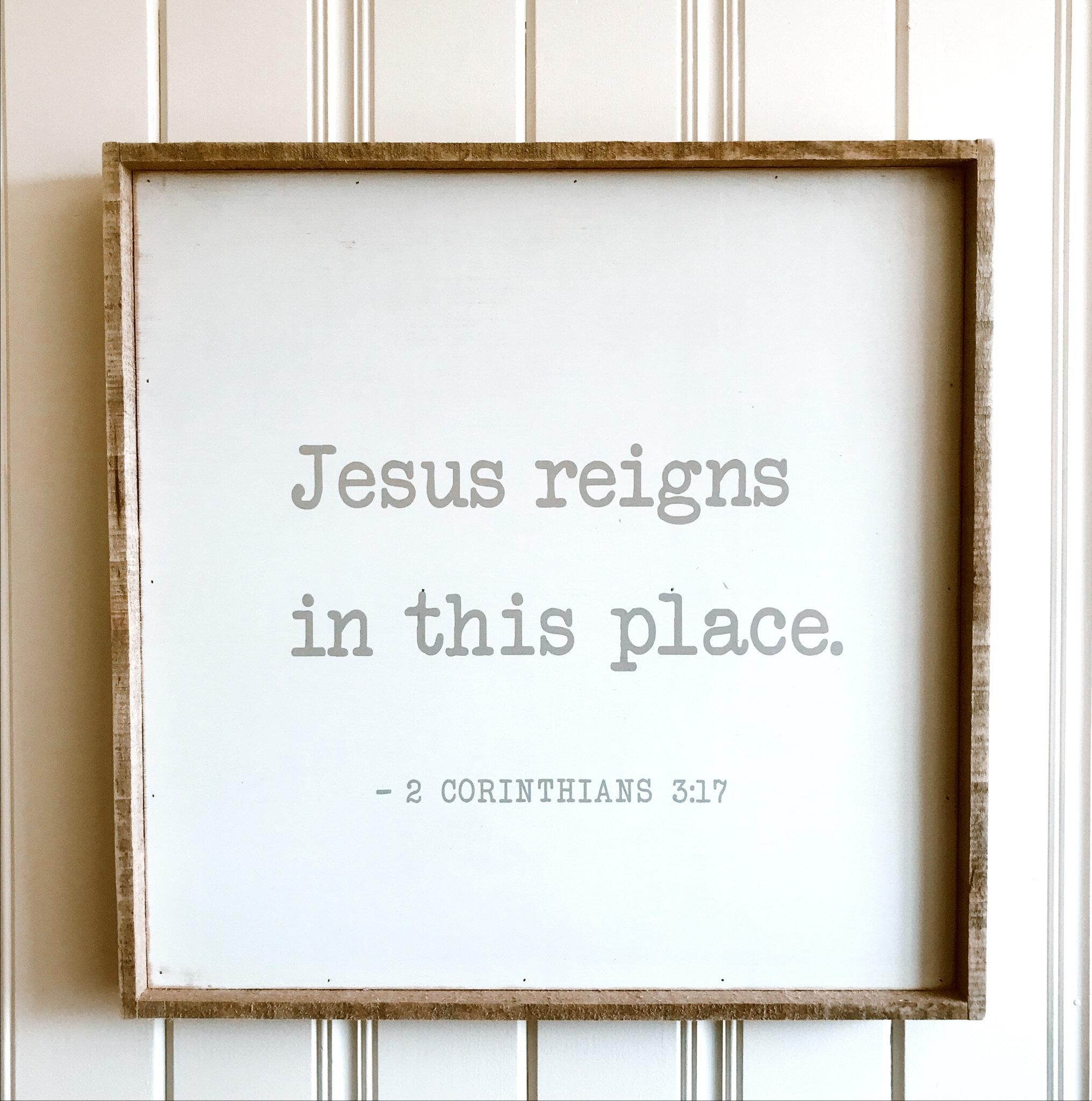 """SALE: $52.00 / Reg. $65.00 - Jesus Reigns: 24"""" x 24"""""""