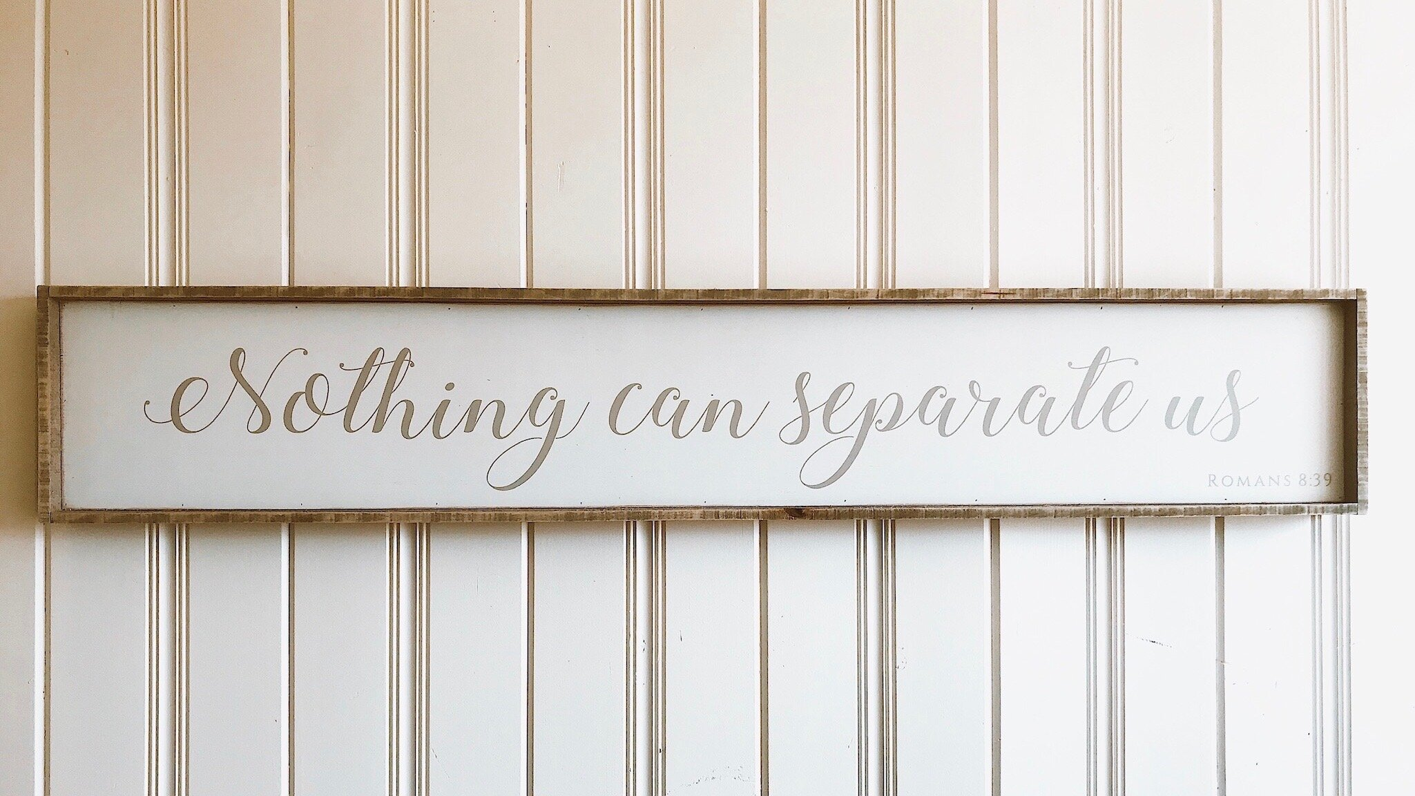 """SALE: $104.00 / Reg: $130.00 - Nothing Can Separate: 60"""" x 10"""""""
