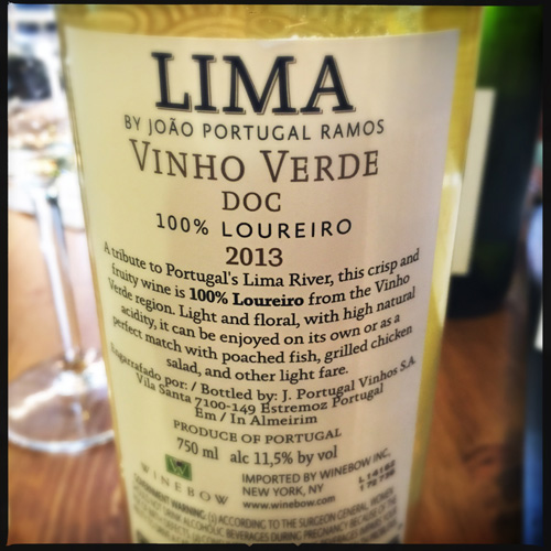 Lima Vinho Verde back label