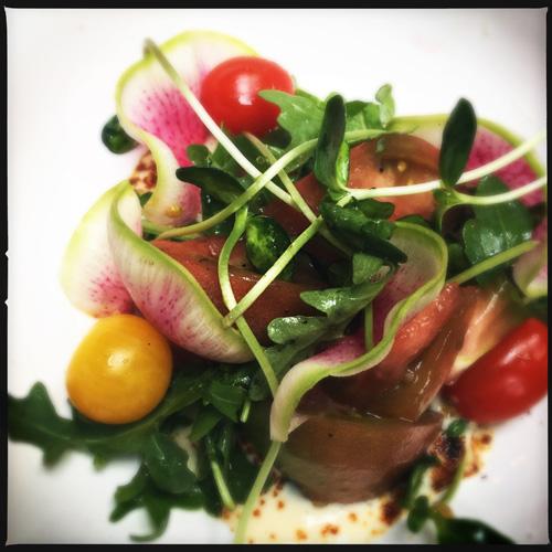 Heirloom tomato salad Feelings Cafe New Orleans