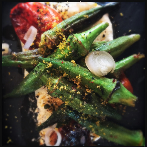 Grilled okra at Coquette New Orleans
