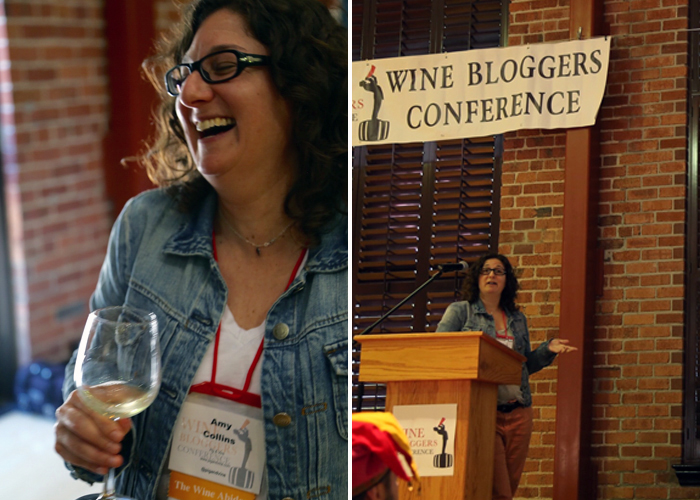 This is how I taste wine at the Wine Bloggers Conference in Lodi, fuel for rocking the podium while talking about nothing. Photos by  Holly Shaw