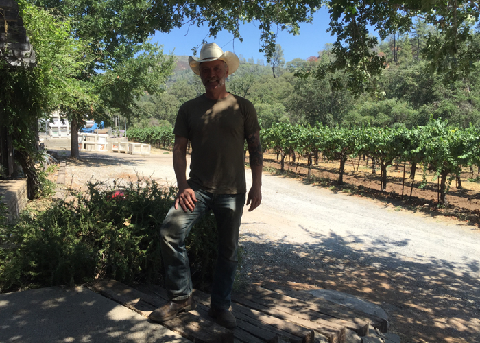 Matthew Rorick of Forlorn Hope at his winery in the Sierra Foothills.
