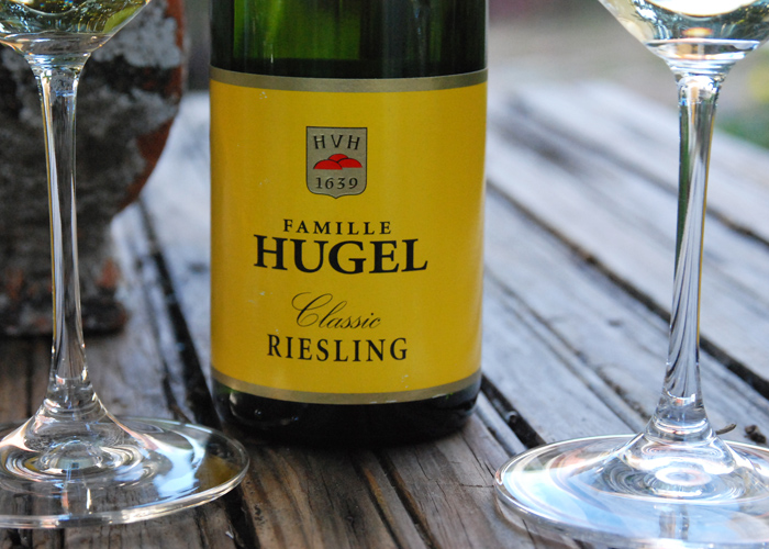 Famille Hugel Classic Riesling 2014 is  floral and fruity on the nose with characteristic leanness on the palate with a dry finish.