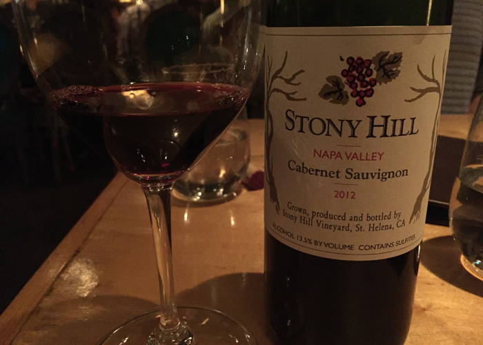 Stony Hill Cabernet Sauvignon 2012 tasting notes