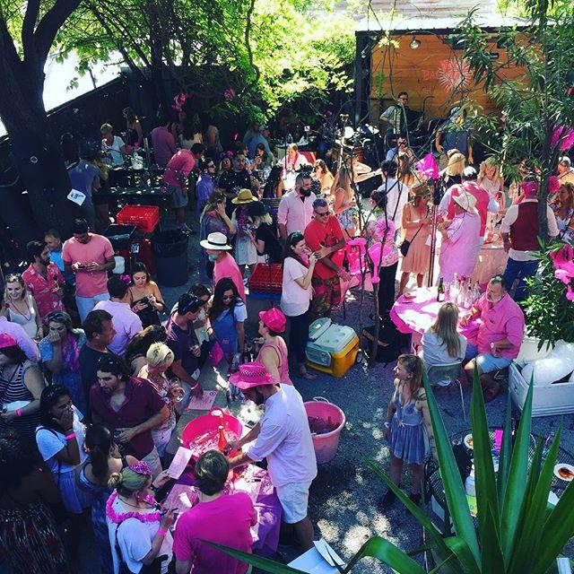Pink on pink on pink @bacchanalwine rosé fest 2017. 😊💕
