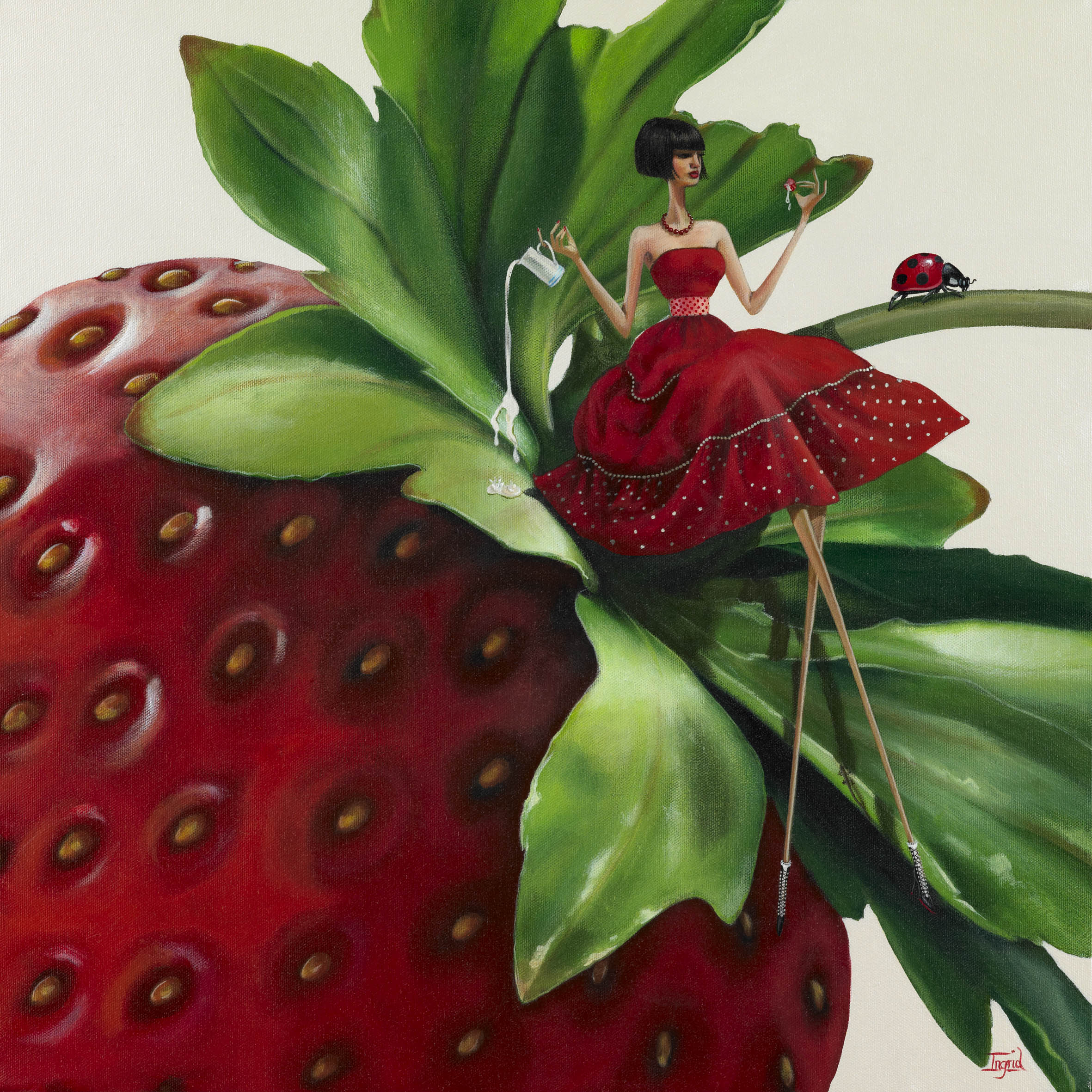 Strawberries & Cream - SOLD