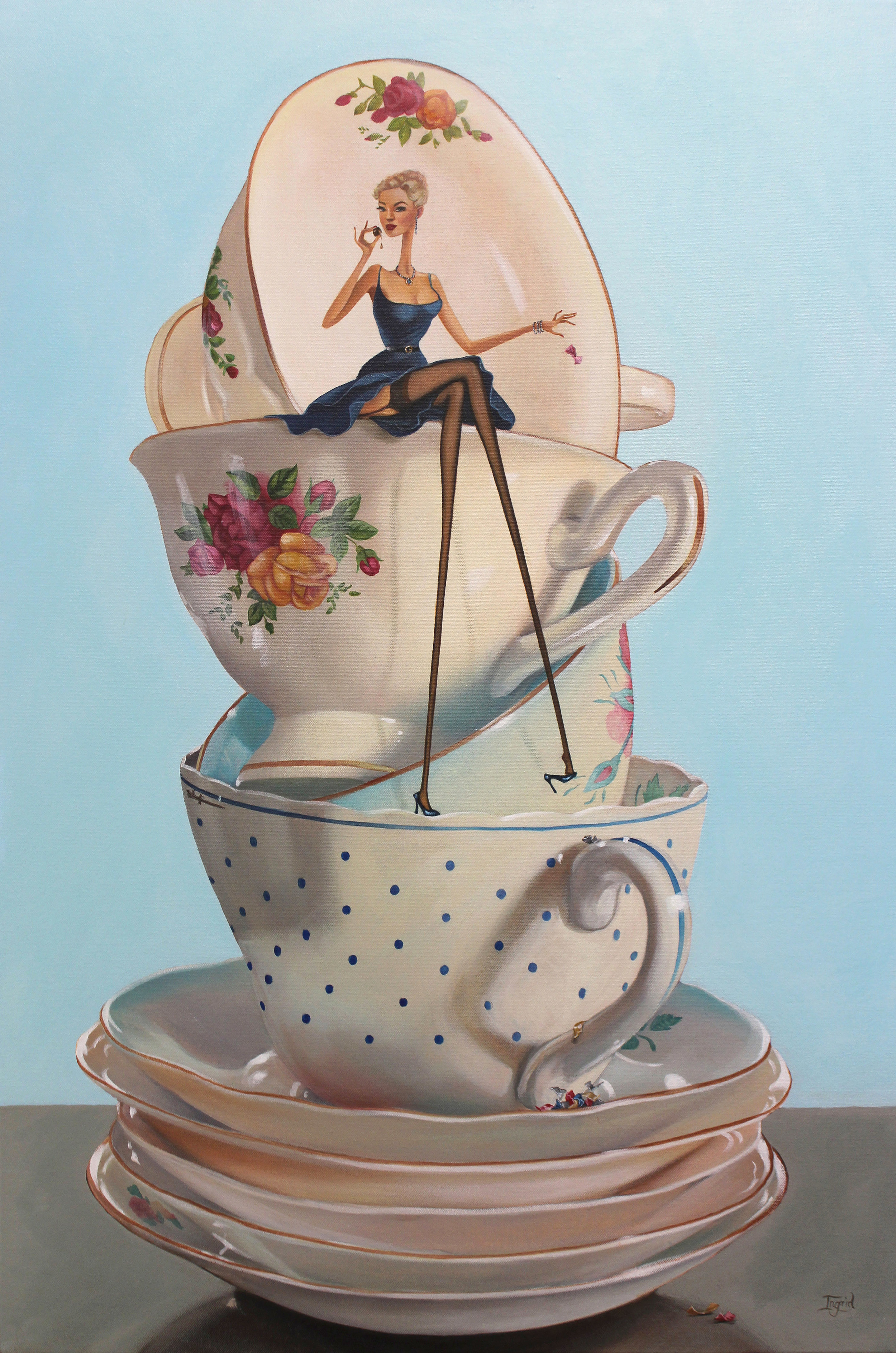 Tea & a little Something - SOLD