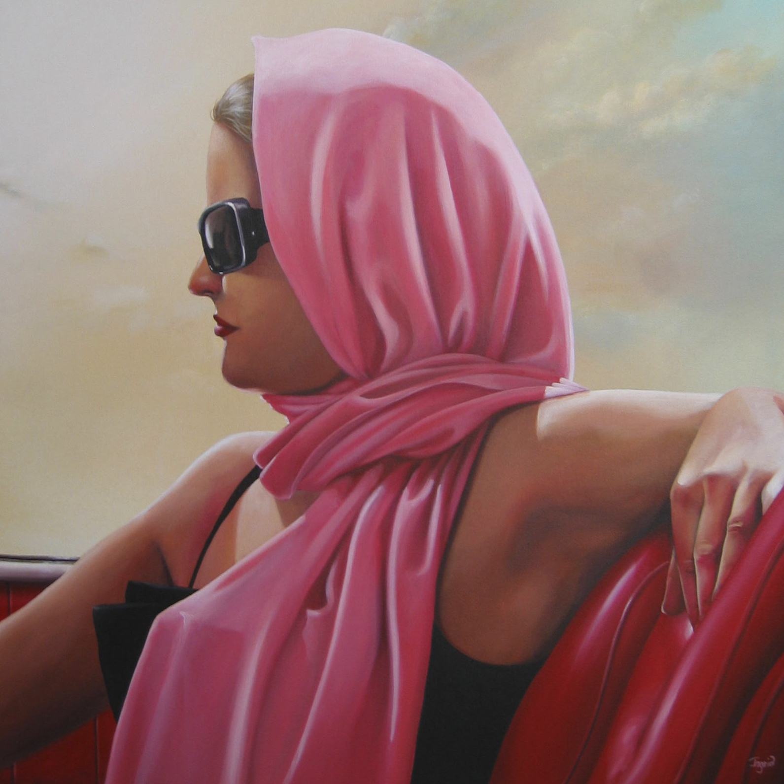 Girl in a Sports Car  – SOLD