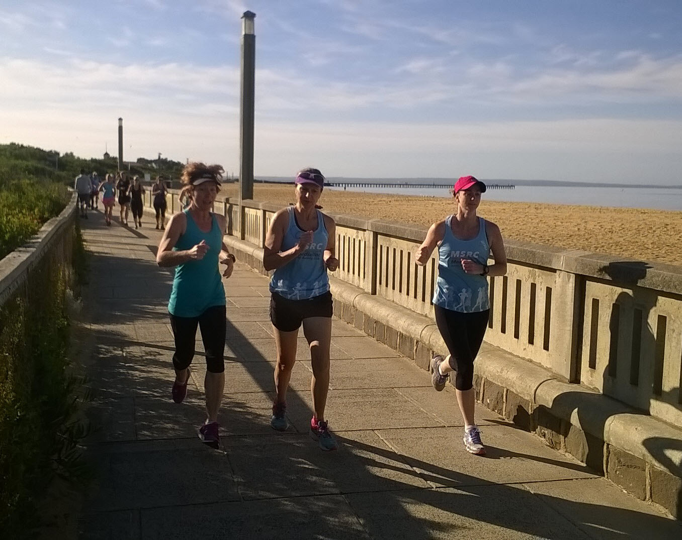 Running with MSRC along the Mordialloc Beach