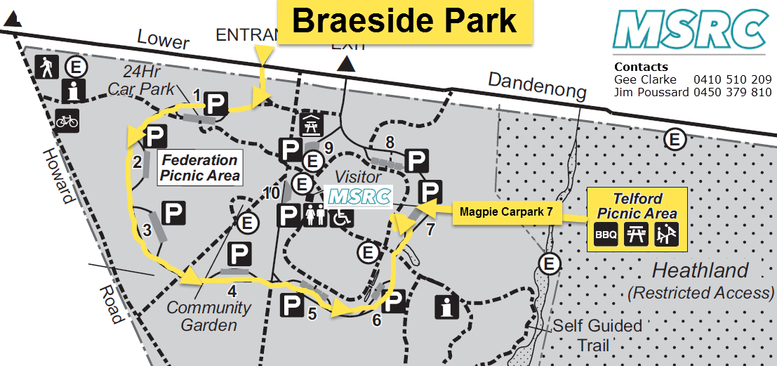MSRC Braeside Park Run Map