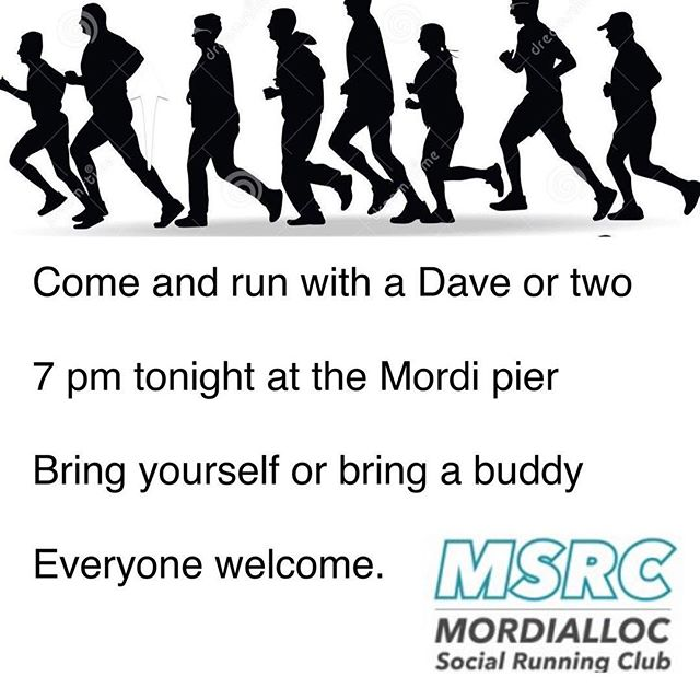 MSRC 7 pm wed run group #running #mordialloc