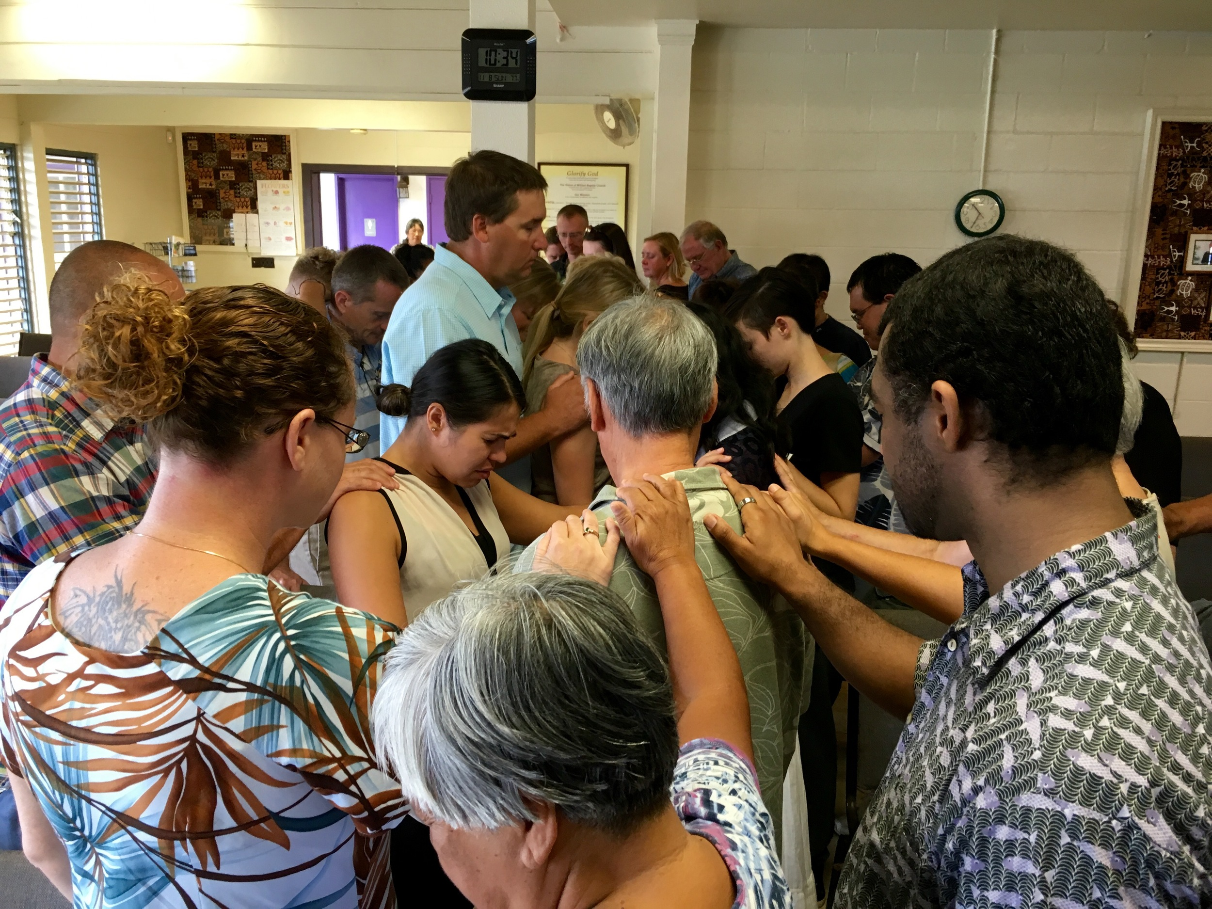 Mililani Baptist Church Praying for Missions Team to the Philippines