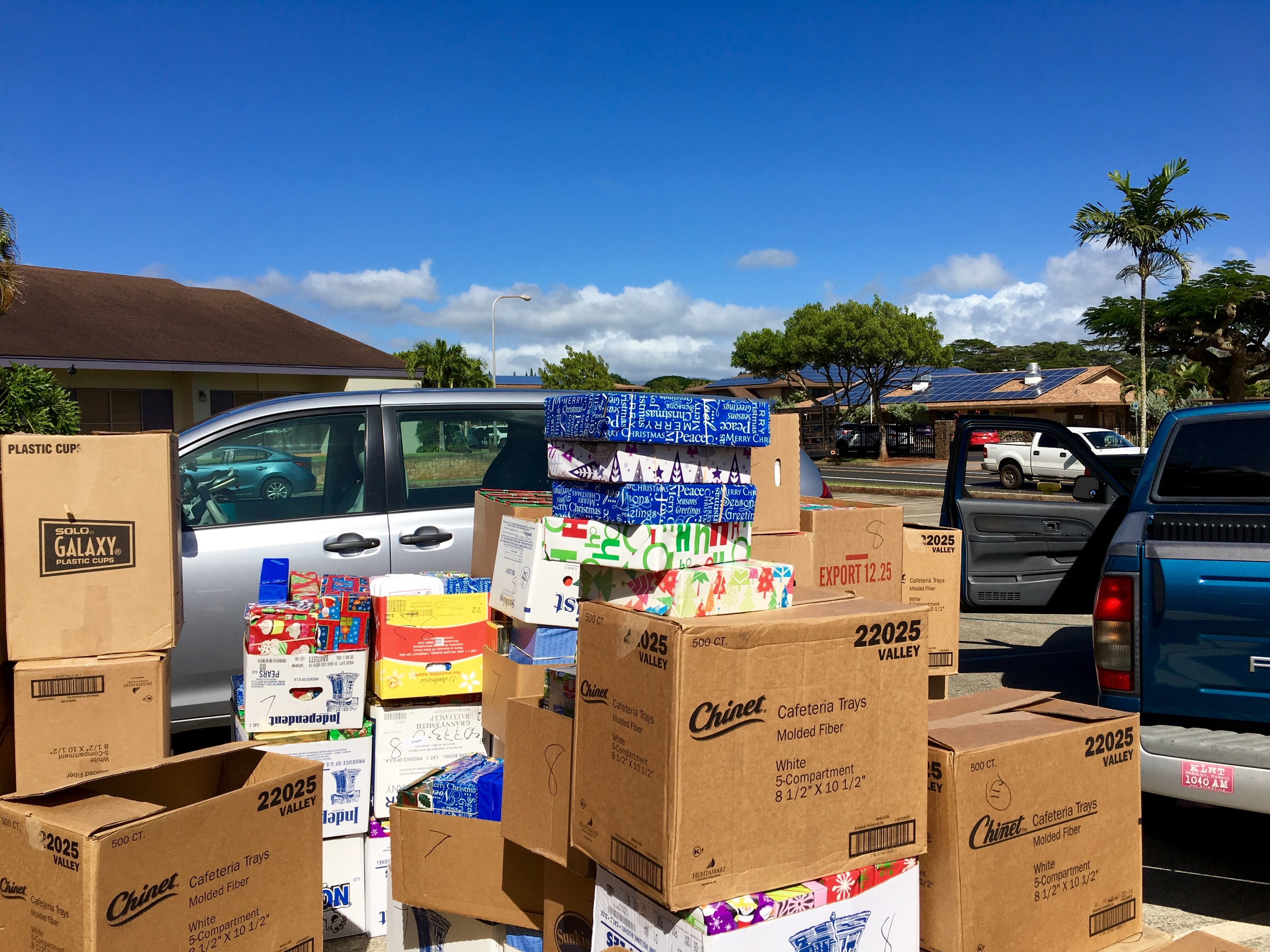 Operation Christmas Child at Mililani Baptist Church