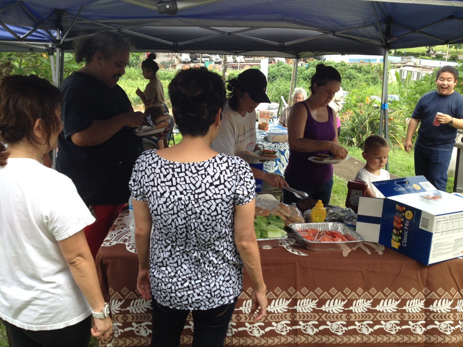 Mililani Baptist Team at Hamama Community Church