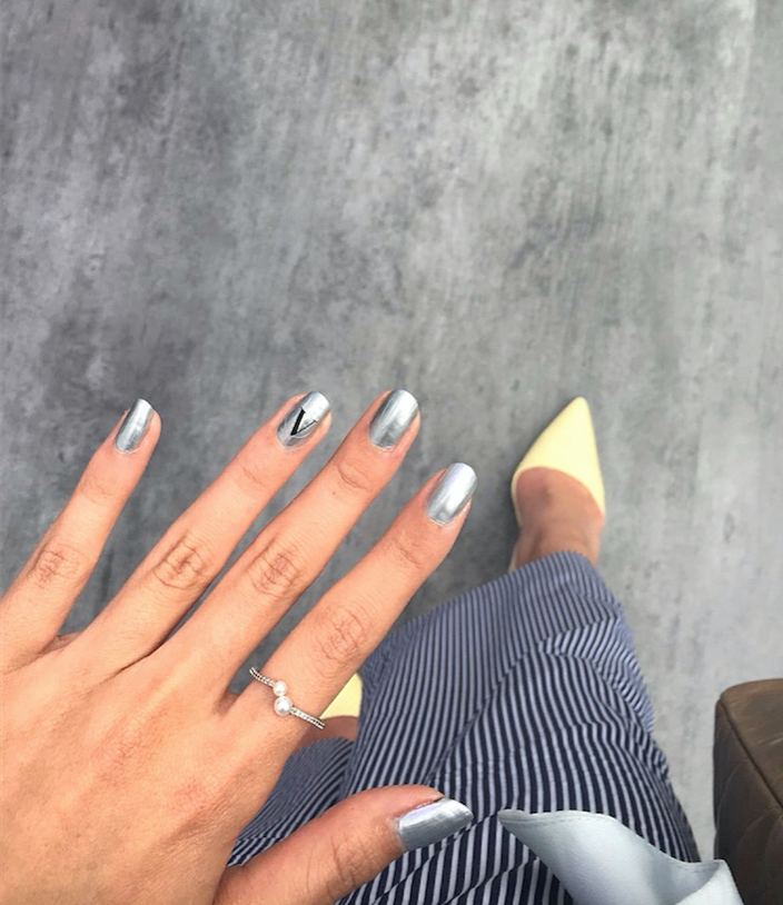 Silver is my new favorite color.