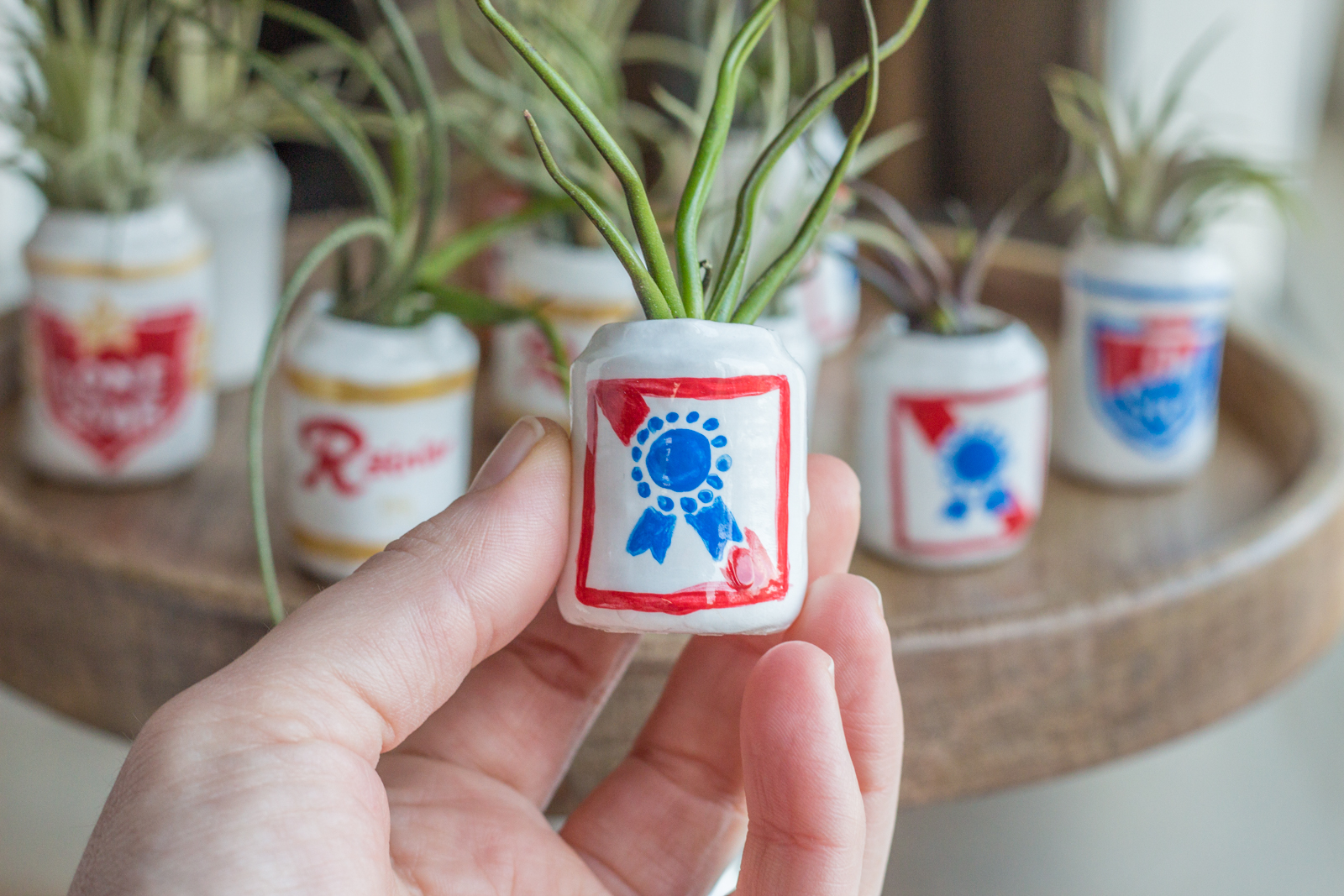 Mini Beer Planters (for Pabst coworkers)