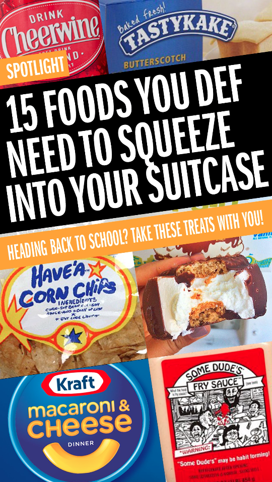 15 Foods You Def Need To Squeeze Into Your Suitcase