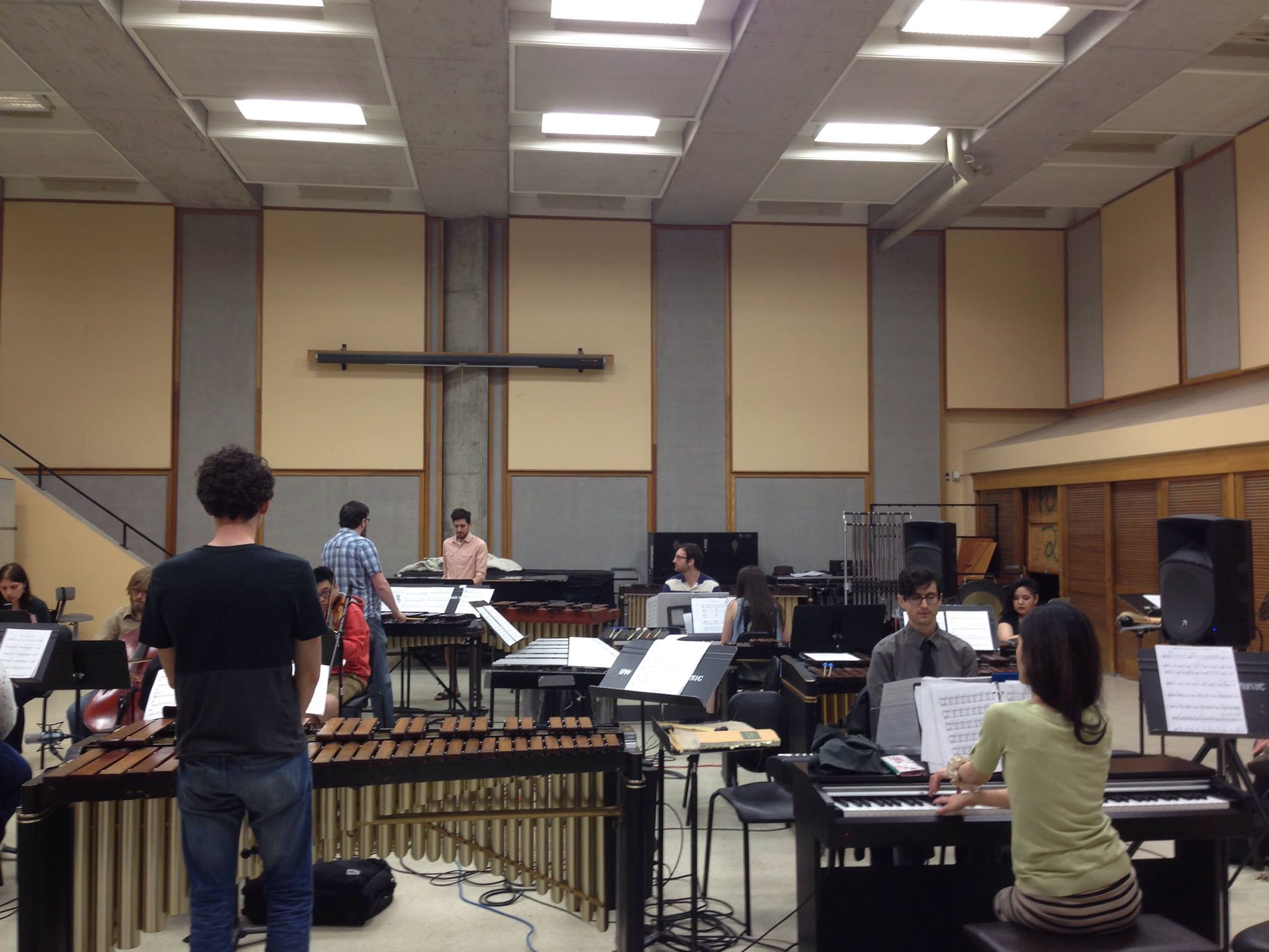 Music for 18 Musicians rehearsal