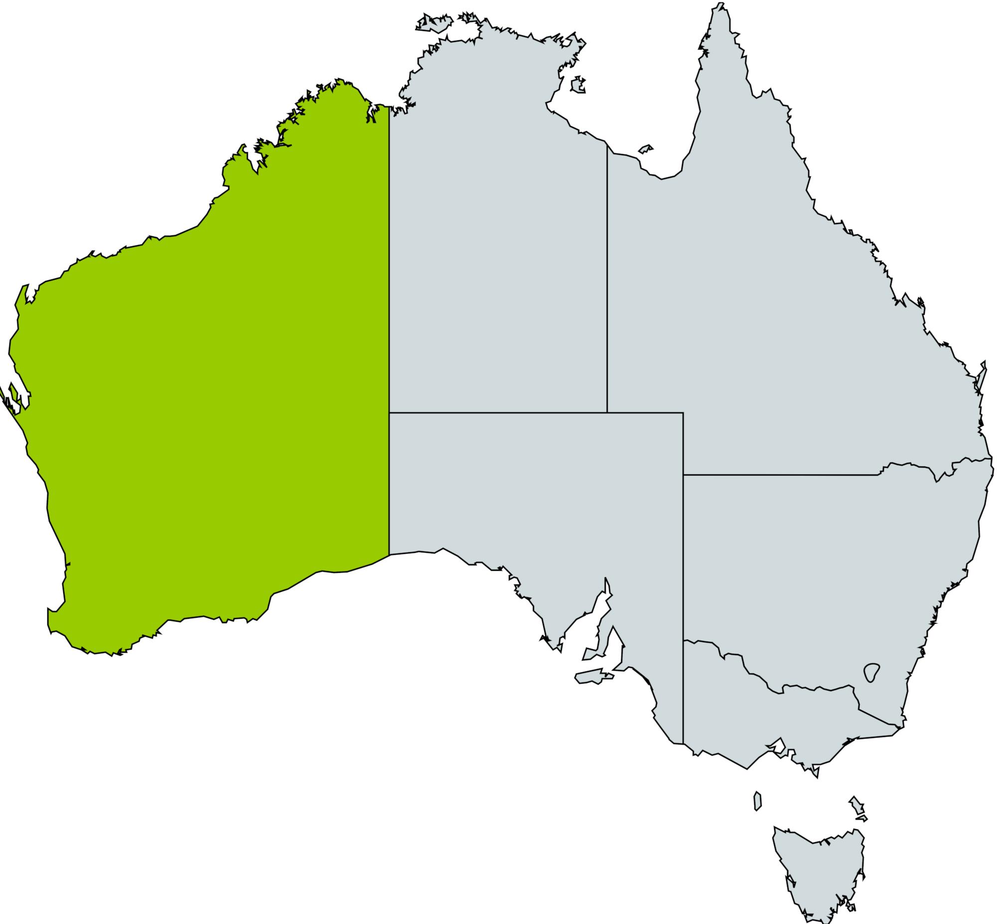 Map Of Western Australia 26th Parallel.Apply Teach Learn Grow