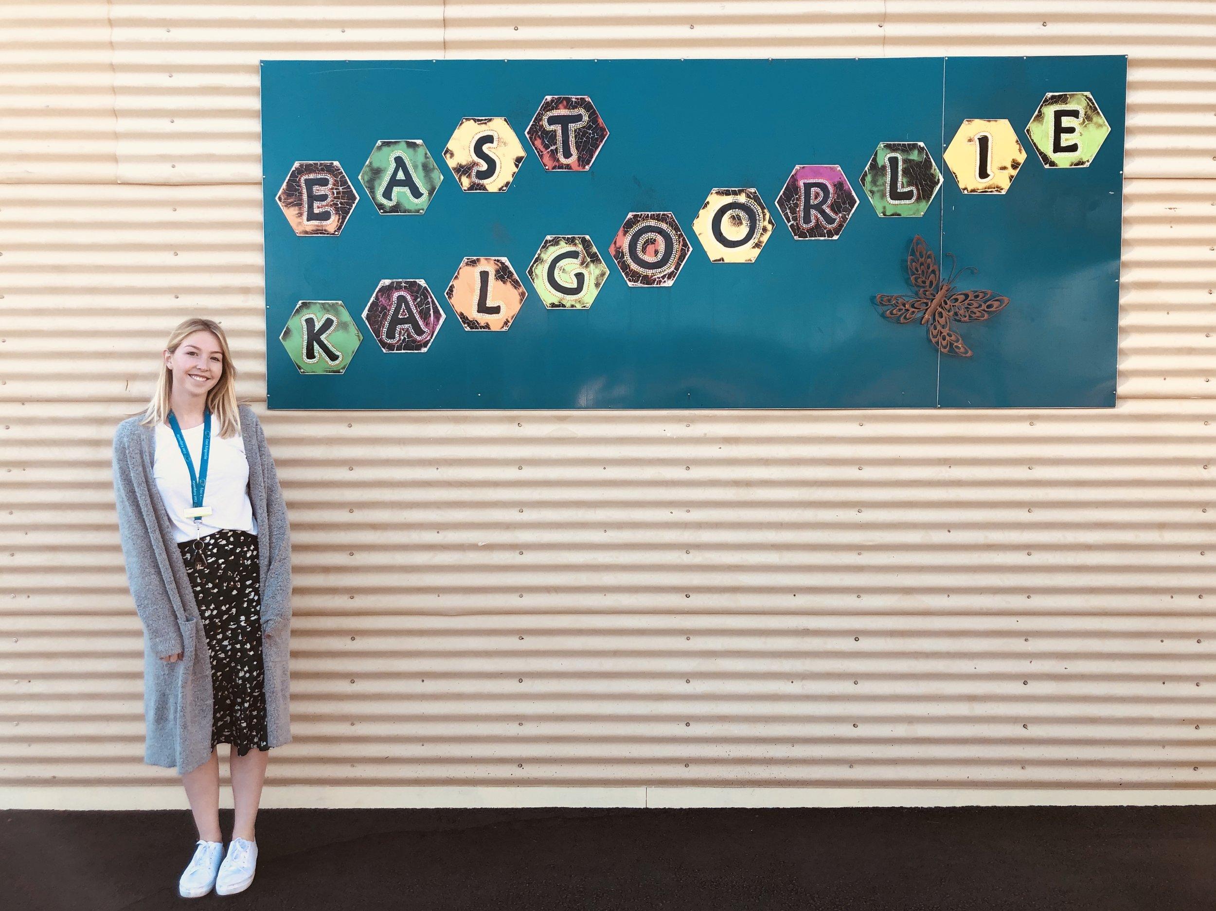 Sophie Mills pictured at East Kalgoorlie Primary School earlier this year.
