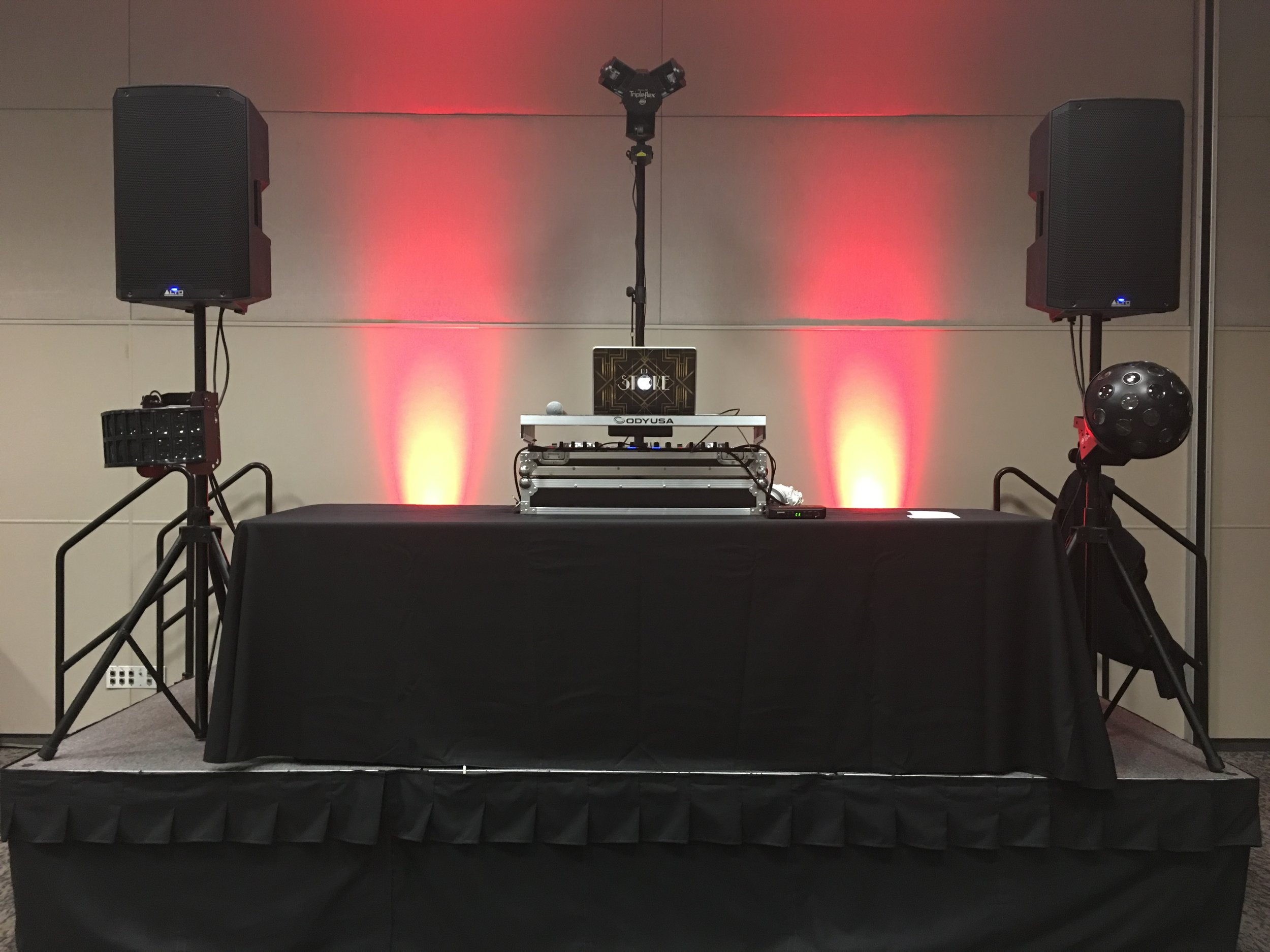 My Setup for Holiday Party - Ontario Convention Center