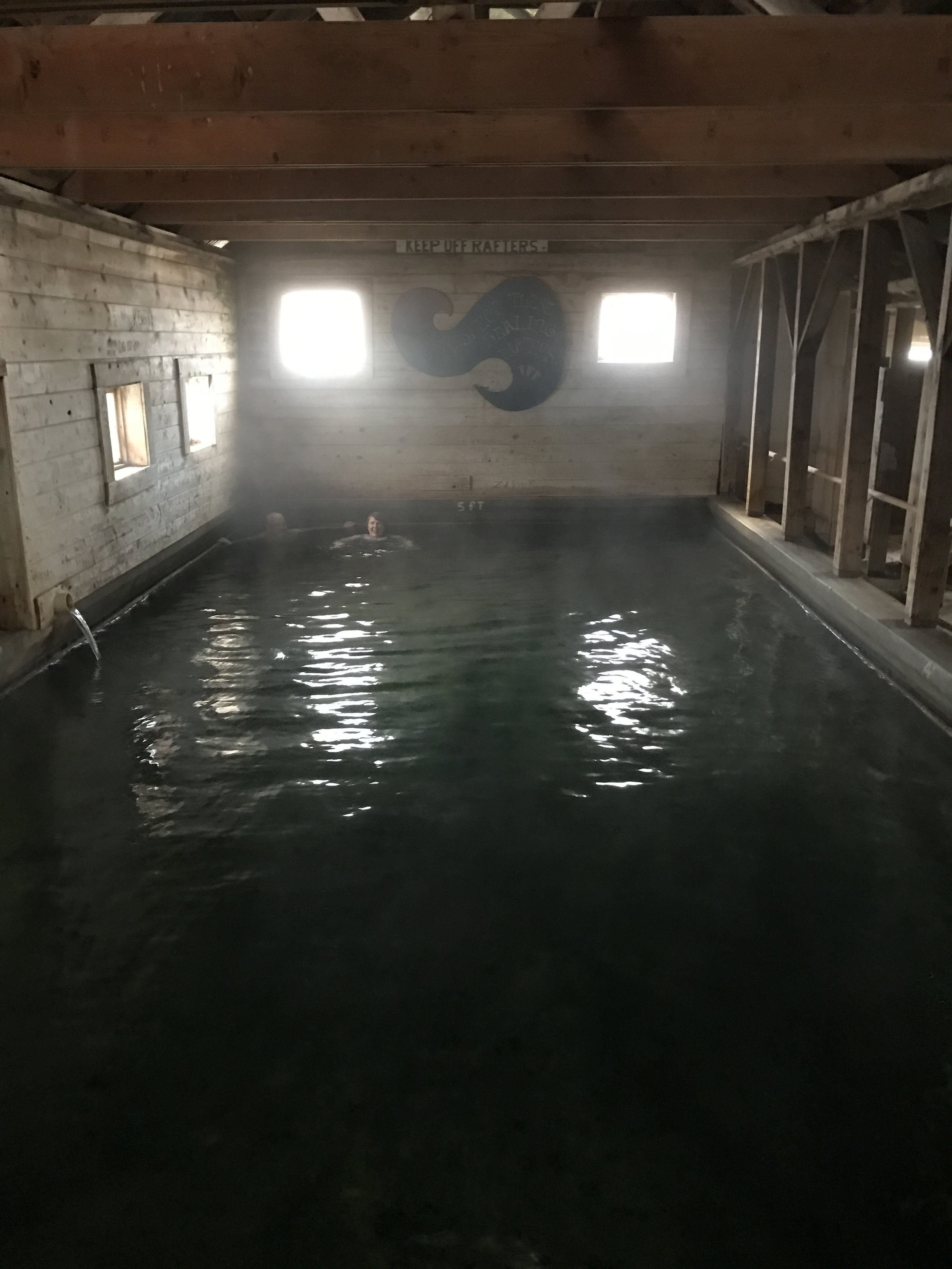 Inside hot springs