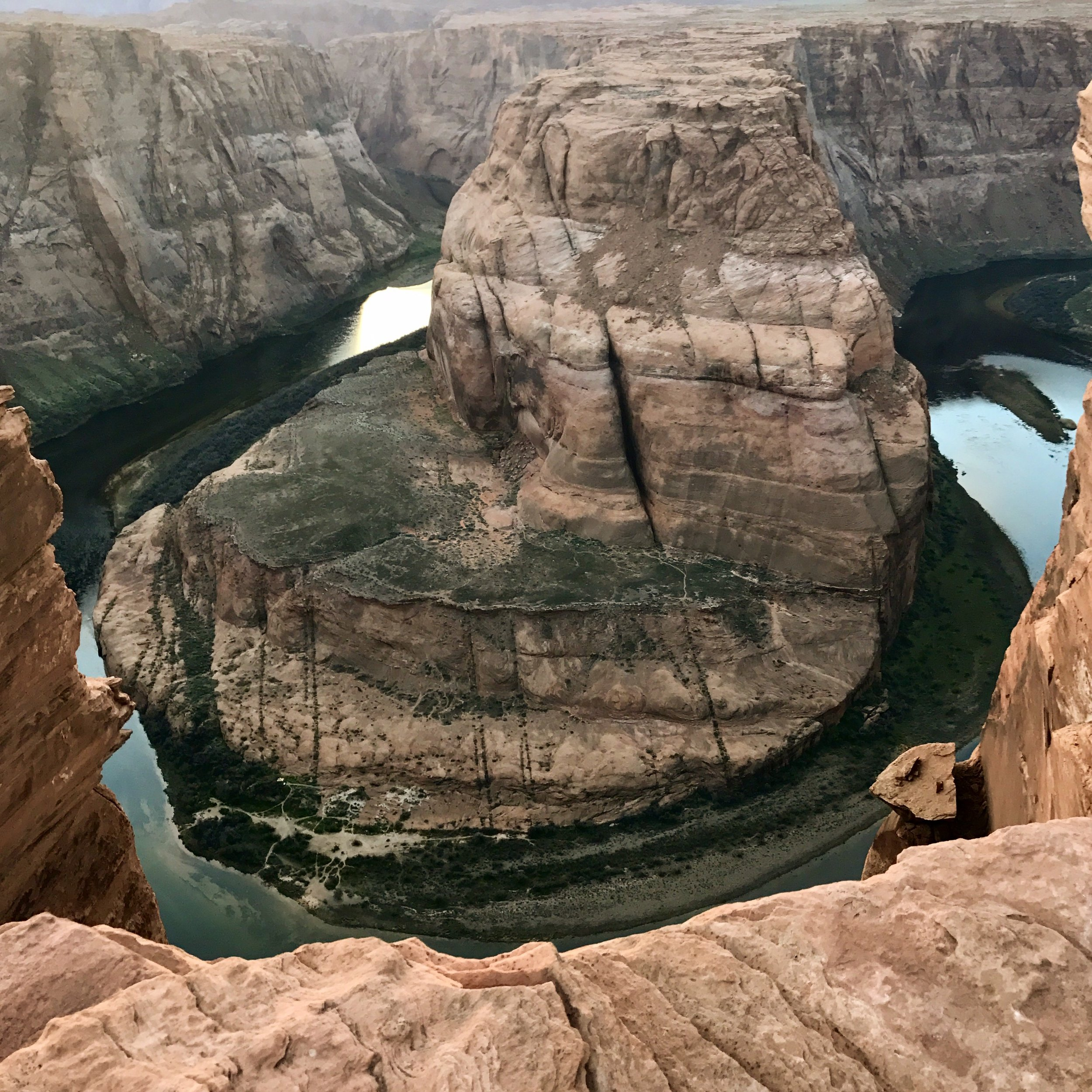 Horseshoe Bend at sunset. Only an hours drive from Kanab.