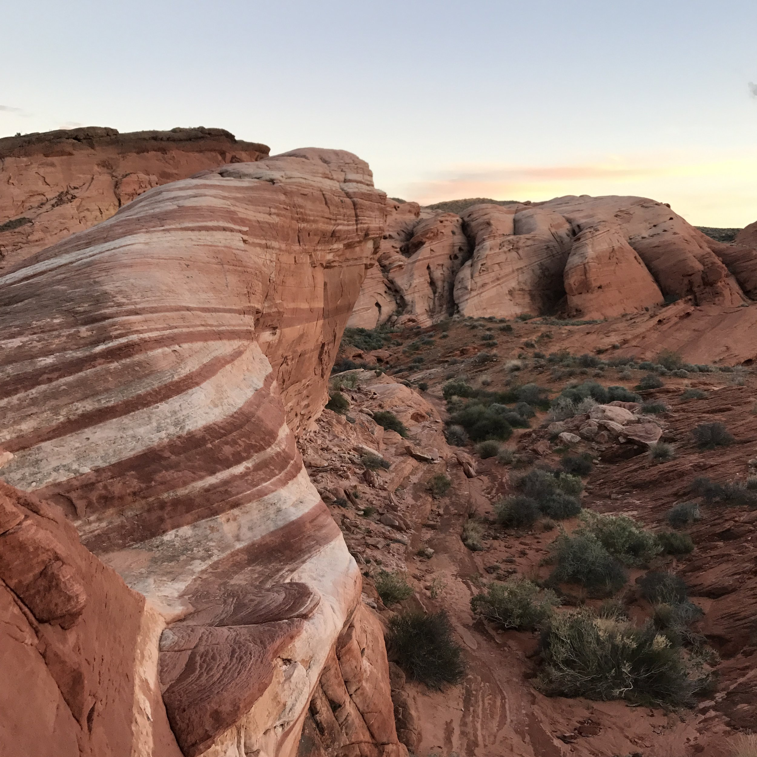 Valley of Fire at dusk. A must do day trip from Kanab.