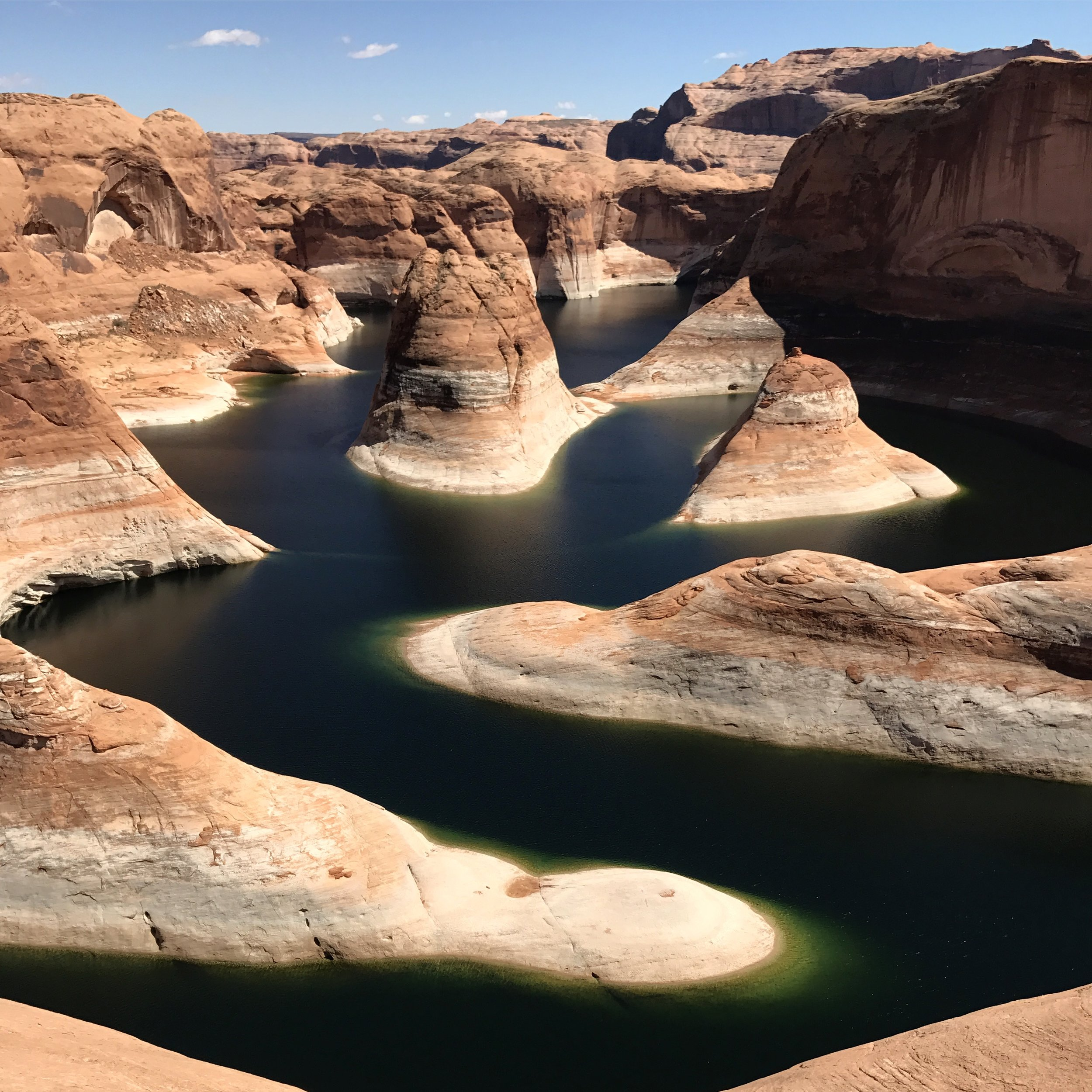 Reflection Canyon glowing in the afternoon light