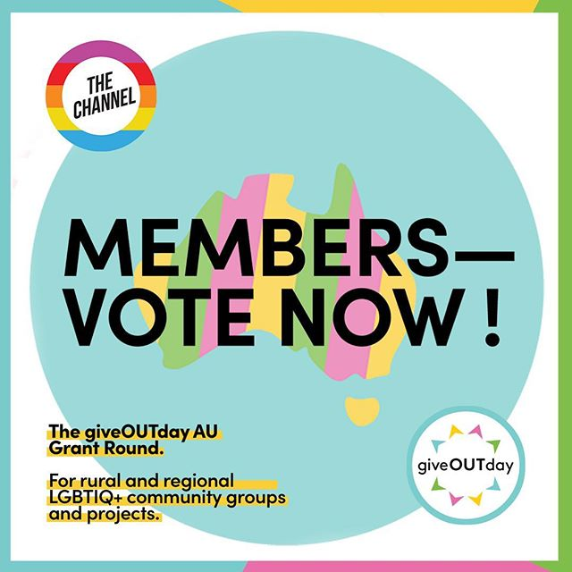 Members, it's time to vote in our giveOUTday grant round !! Swipe to view the shortlisted orgs + check your inbox for the link to vote. Voting closes at midnight this Thursday night, so be quick 💫