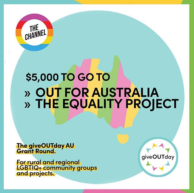 VOTES ARE IN for our #giveOUTday Rural and Regional Grant Round! @outforaustralia and @equalityproj_au have each received $5,000 towards their @giveoutdayAU projects.  Big thx to all our members who voted! You can support this work further at giveoutday.org.au 🏳️🌈