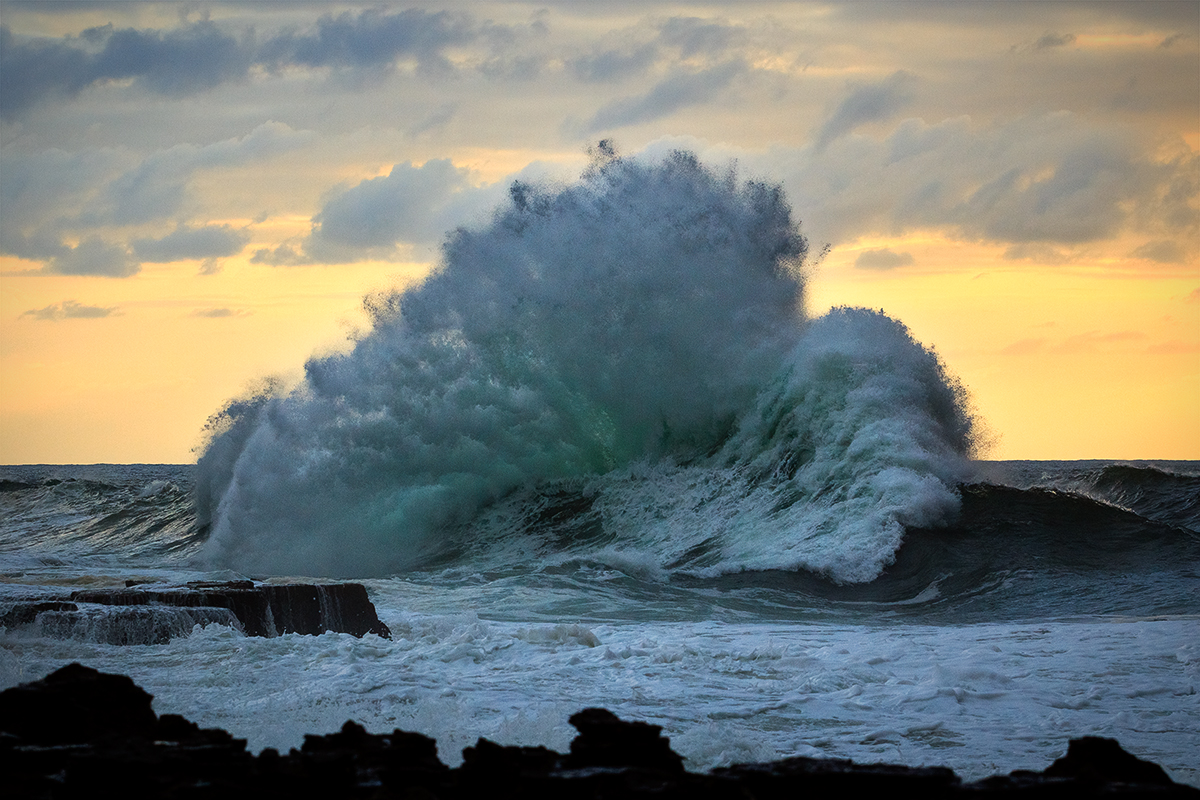 This wave is a lot bigger than it looks!