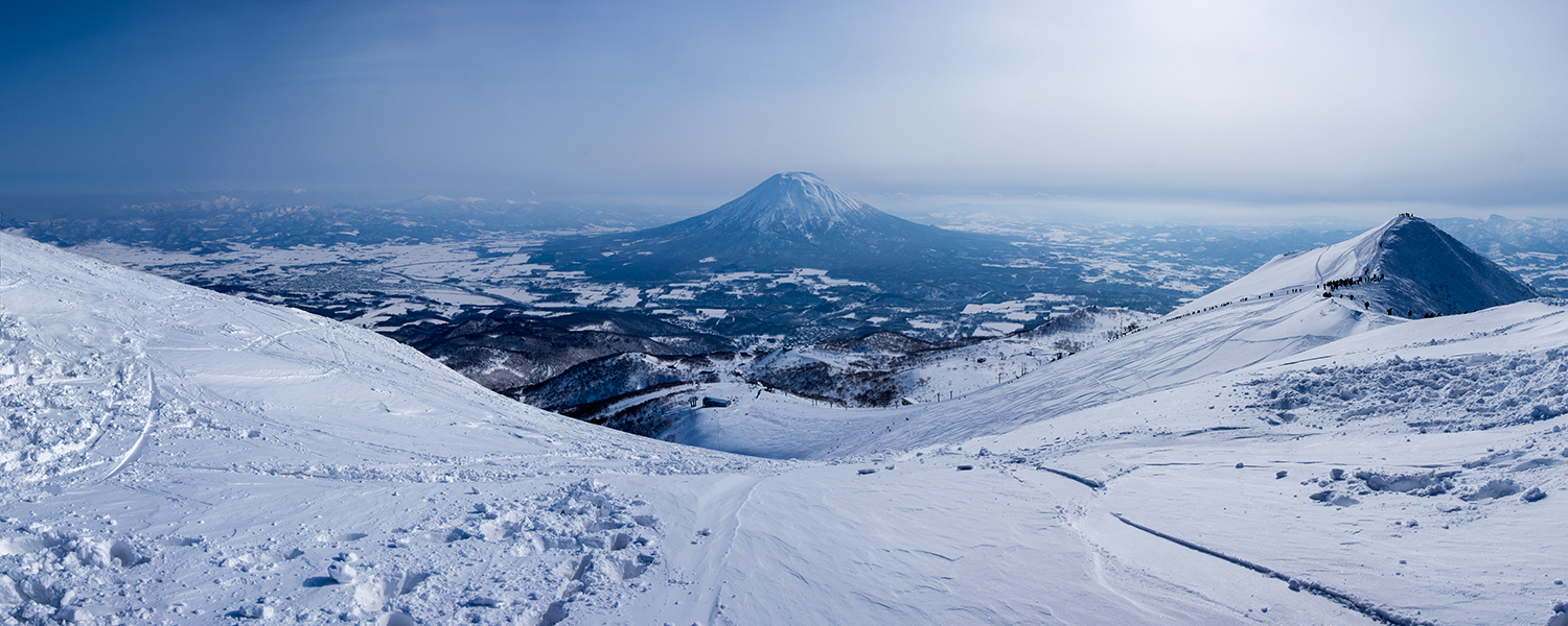 The view from the top of Mt. Niseko/Annupuri after our hike up.