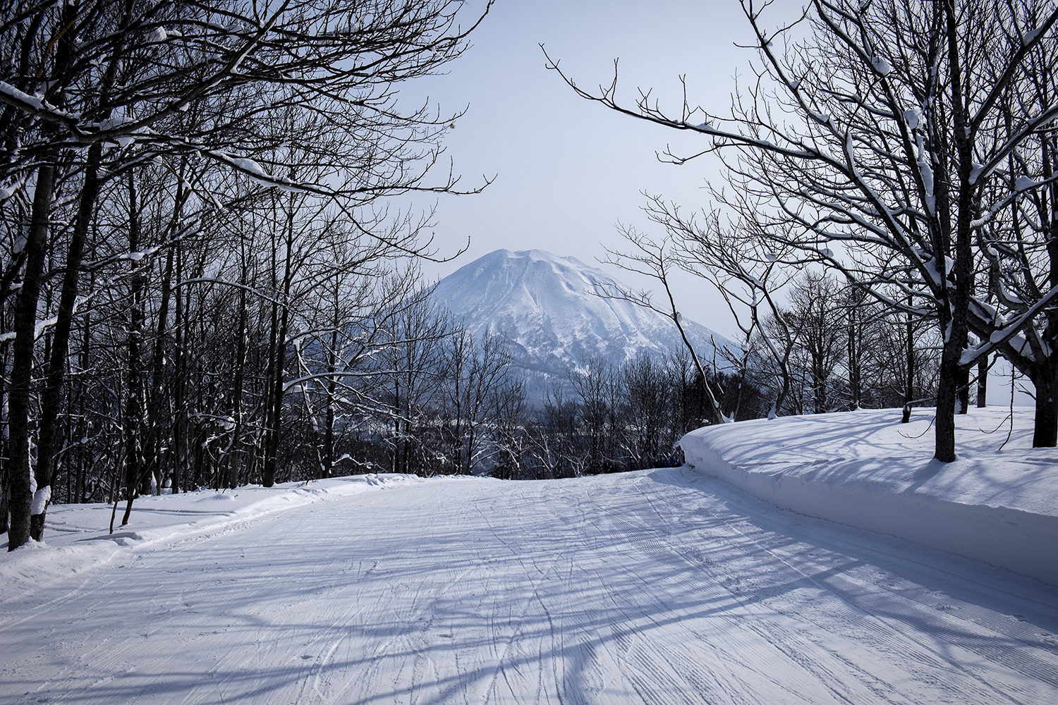 The view of Mt Yotei during our ride down the mountain.