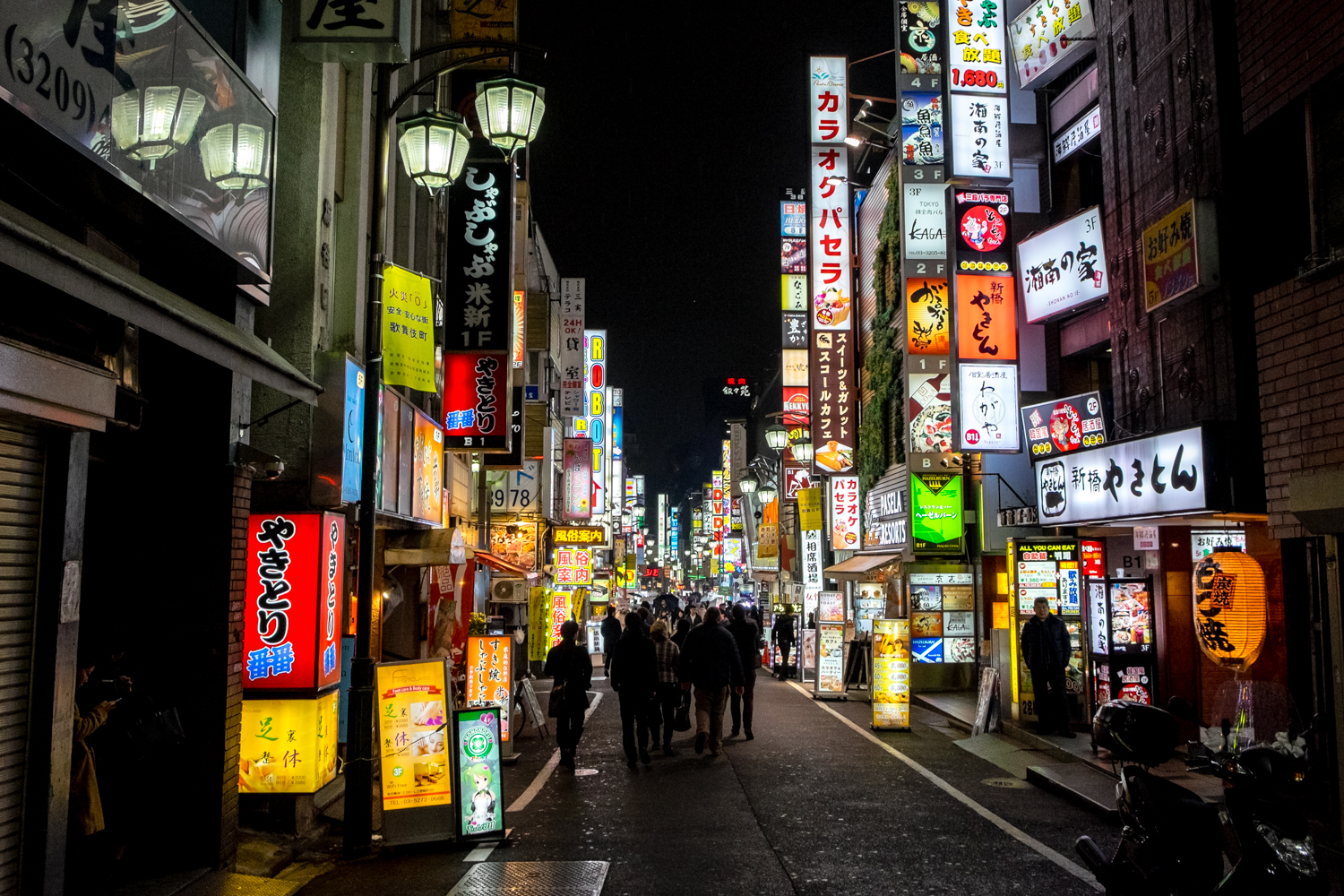 More signs filling the street in Kabukicho.