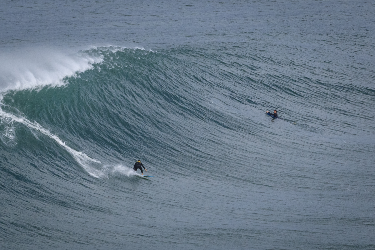 One of the tow surfers reaping the rewards.