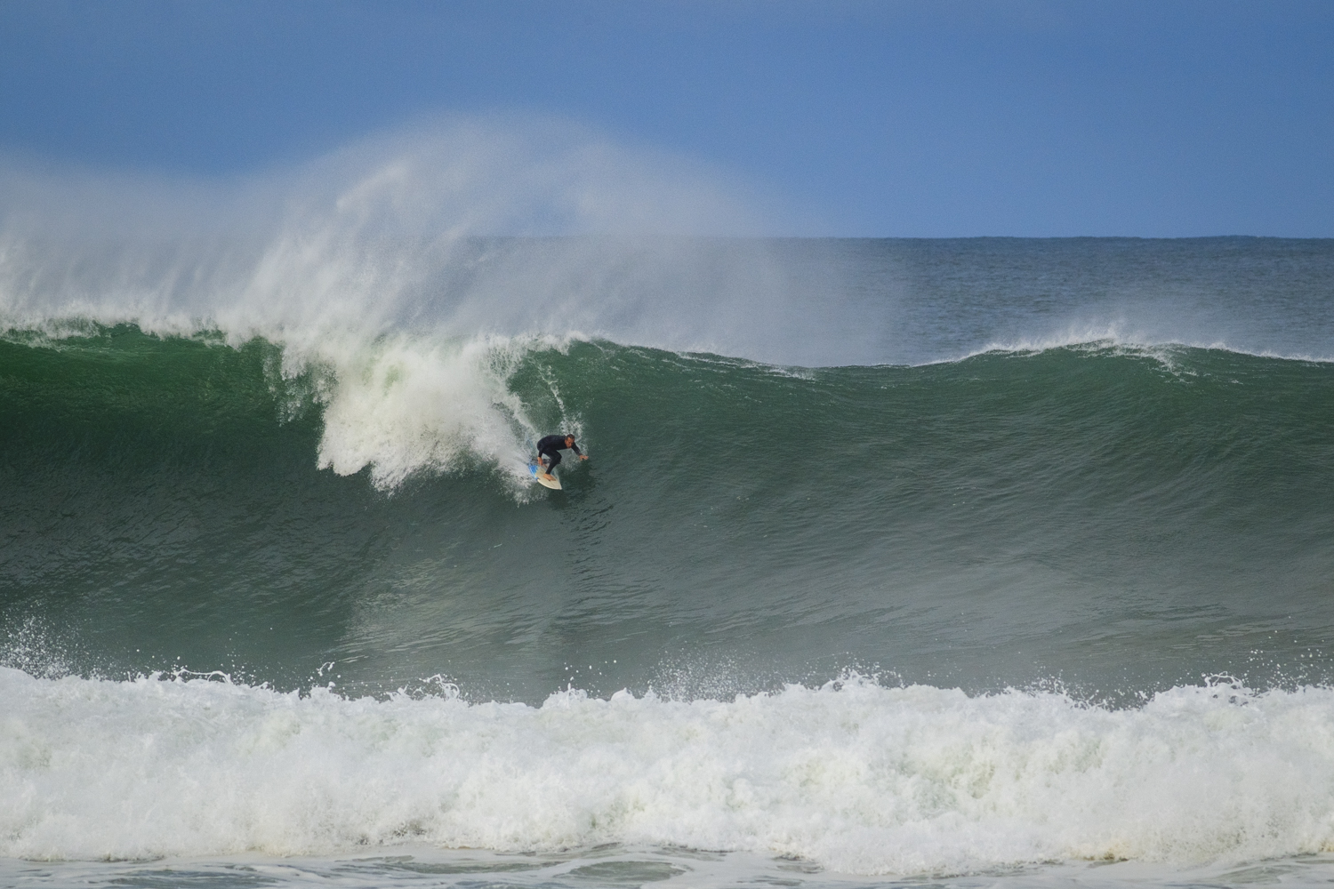 One of the biggest beachie waves i've ever seen. North Avoca on Tuesday afternoon.