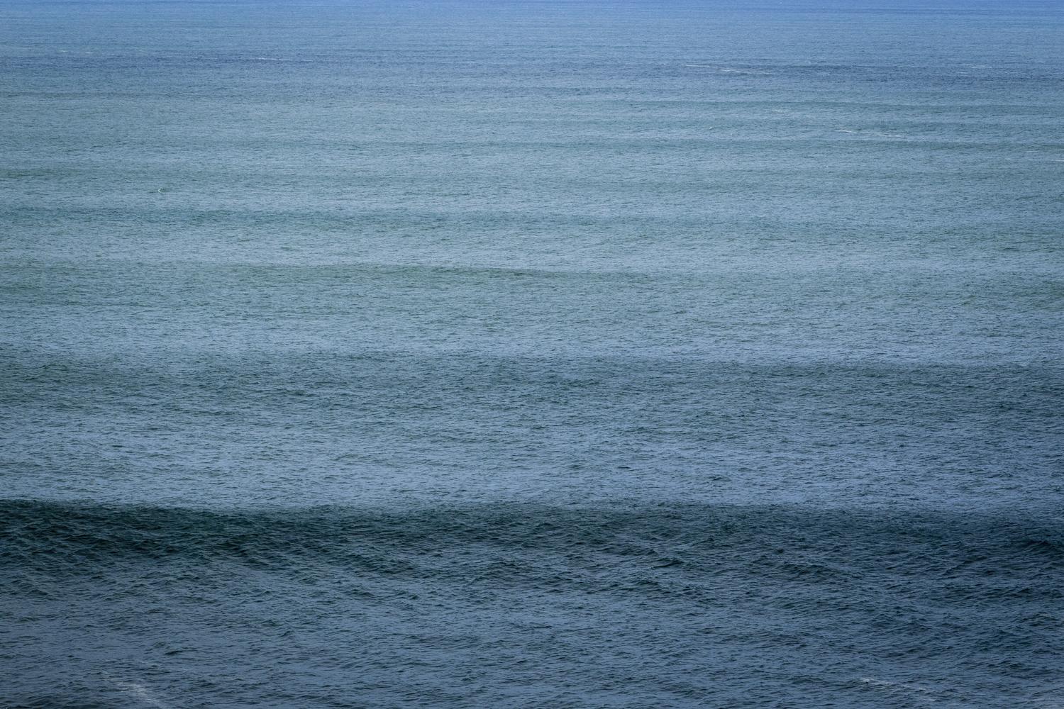 Swell stacked up to the horizon.