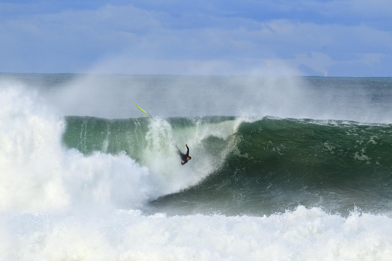 A surfer coming unstuck.