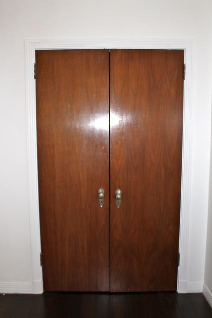 Burnished double door with original hardware