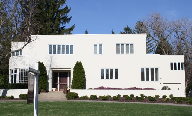 International style home designed by Alexander McColl on Plymouth Rd. in East Grand Rapids